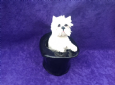 Eve Pearce Hand-Made Model - Westie in Top Hat * SALE *
